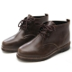 Mens round toe steampunk contrast stitch eyelet lace up low heels ankle boots