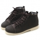 Mens rock chic round toe straight tip increase height hidden insole eyelet lace up low heels ankle boots elevator shoes