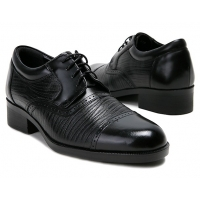 """Mens 2.4"""" UP black real Leather increase height punching Lace up Shoes made in KOREA US 6.5 - 10"""