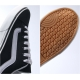 Mens chic black & white straight tip eyelet lace up fashion sneakers