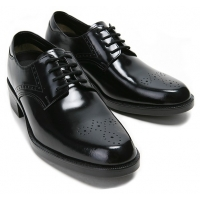 """Mens 2.4"""" UP black punching real Leather increase height punching Lace up Shoes made in KOREA US 6.5 - 10"""