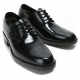 "Mens 2.4"" UP black punching real Leather increase height Lace up Shoes made in KOREA US 6.5 - 10"