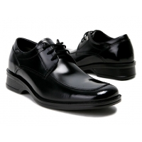 """Mens 2.4"""" UP black stitch  real Leather increase height  Lace up Shoes made in KOREA US 6.5 - 10"""