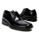 "Mens 2.4"" UP black stitch  real Leather increase height  Lace up Shoes made in KOREA US 6.5 - 10"