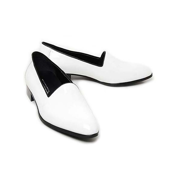 mens white loafers synthetic leather minimal shoes