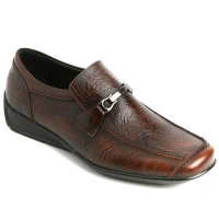 Mens  loafers stud stitch real cow Leather Shoes brown made in KOREA US 6.5 - 10