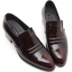 Mens real Leather inner band Loafers slip on dress shoes brown made in KOREA US 5.5 - 10.5