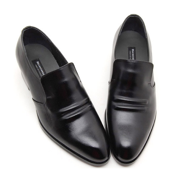 f02f0fb1a2782 Mens real Leather inner band Loafers slip on dress shoes black made in  KOREA US 5.5 ...