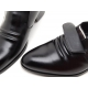 Mens real Leather inner band Loafers slip on dress shoes black made in KOREA US 5.5 - 10.5