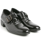 """Mens 2.6"""" UP cow Leather increase height monk front buckle Shoes  black made in KOREA US 5.5 - 10"""
