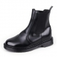 "Men's 2.4"" UP synthetic Leather chelsea boots increase insole rubber sole  black made in KOREA US 7.5-US 10.5"