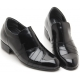"Mens 3.2"" UP black real cow Leather increase height slip-on Shoes made in KOREA US 6.5 - 10"
