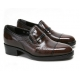 """Mens 2.4"""" UP real Leather increase height straight tip slip-on Shoes brown made in KOREA US 6.5 - 10"""