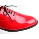 Mens round toe oxford Lace Up dress shoes glossy red made in KOREA US 5.5 - 11.5