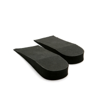 2 cm Up Black increase height insole half shoe for Womens & Mens free size made in KOREA