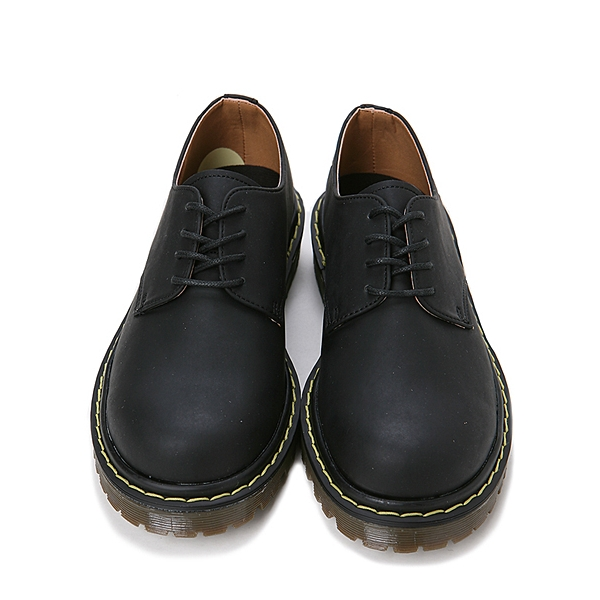 Mens Synthetic Leather Stitch Lace Up Stitch Combat Sole Shoes