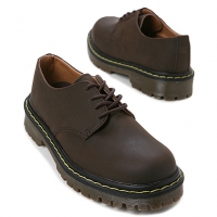 Mens synthetic leather stitch Lace up stitch combat sole shoes brown made in KOREA US 5 - 10.5