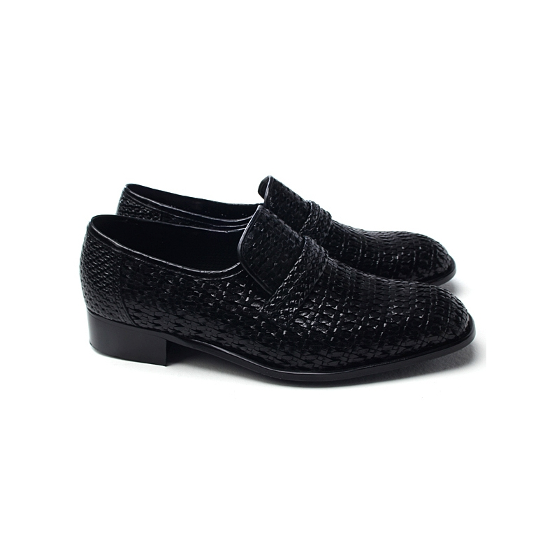 Men S Summer Mesh Detail Leather Loafers