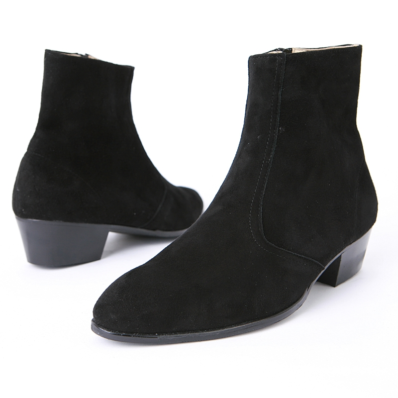mens real suede ankle boots