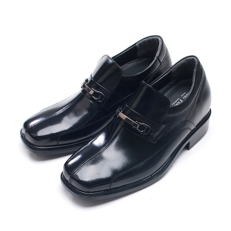 Mens increase height elevator shoes loafers
