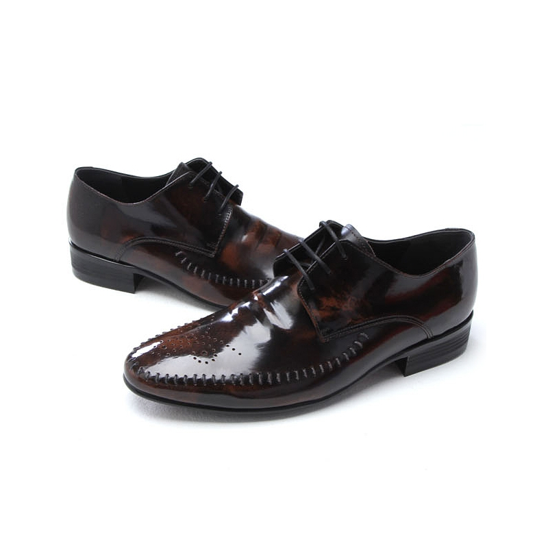 mens brown leather classic dress shoes