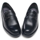 Mens U line round toe black cow leather stud loafers comfortable shoes made in KOREA US 5.5 - 10.5