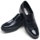 Mens straight tip two tone round toe stud black cow leather loafers comfort shoes made in KOREA US 5 - 10