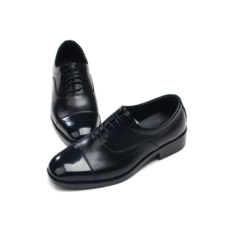 Two tone black white mens dress shoes