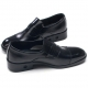 Mens round toe straight tip two tone black cow leather loafers comfortable shoes made in KOREA US 5.5 - 10.5