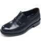 Mens round toe u line stitch black cow leather stud loafers comfortable shoes made in KOREA US 5.5 - 10