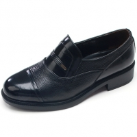 Mens straight tip round toe two tone black cow leather stud loafers comfortable shoes made in KOREA US 5.5 - 10