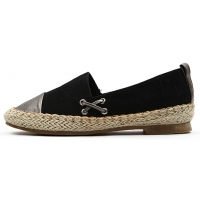 Womens lovely two tone espadrille flat shoes