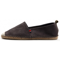 Womens lovely two tone synthetic suede espadrille flat shoes black