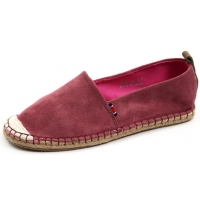 Womens lovely two tone synthetic suede espadrille flat shoes wine