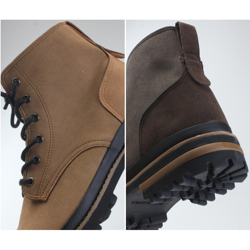 Mens Chic Contrast Stitch Combat Sole Ankle Boots