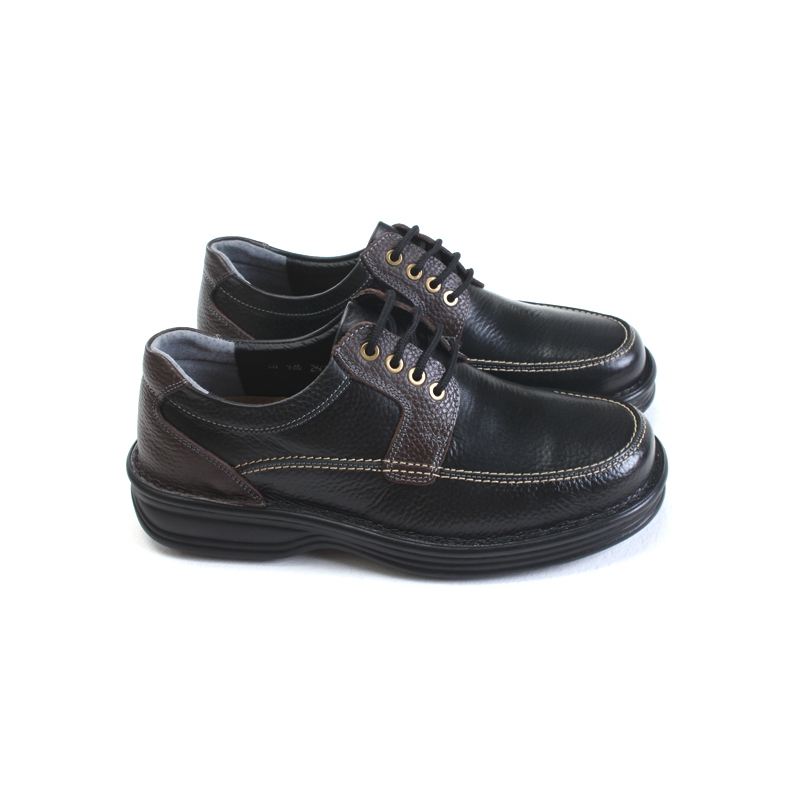 Mens Chic Multi Color Leather Clunky Shoes