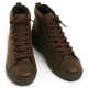 Men's eyelet lace up back tap vintage high tops shoes