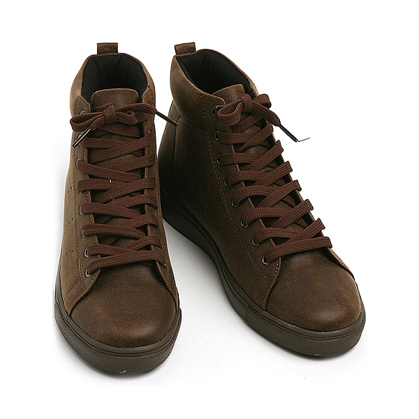 Mens eyelet lace up back tap vintage high tops shoes mens synthetic leather vintage high tops shoes brown made in korea us 65 105 publicscrutiny Choice Image
