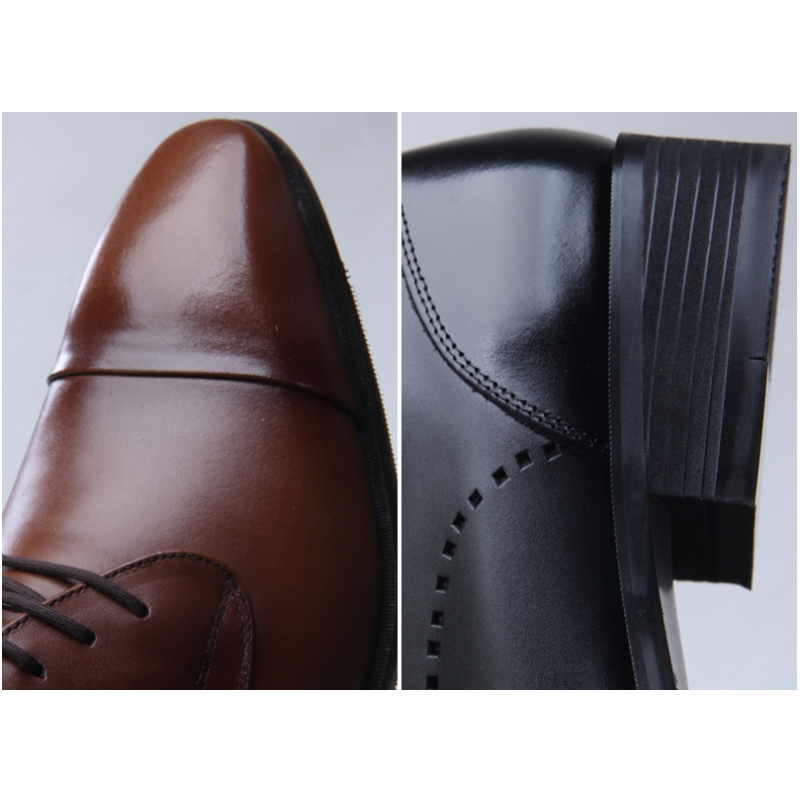 Mens Straight Tip Dress Shoes