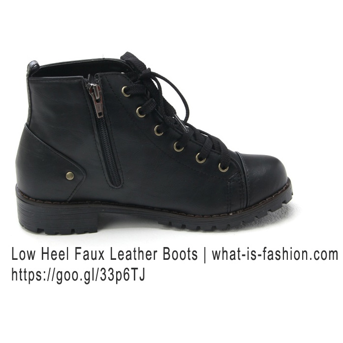 Womens military low ankle boots