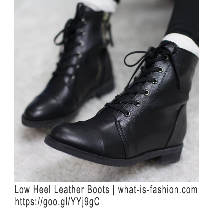 Black Ankle Combat Boots - Cr Boot