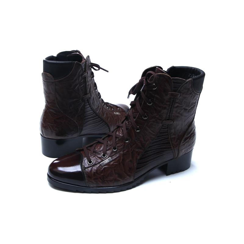 White, Mens Classic Ankle Boots Hexagone