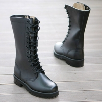 womens rock n roll lace up mid calf long celebrity combat boots hand made shoes