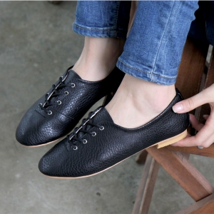 c99cf88ea0caf http   what-is-fashion.com 3880-30458-. Previous. womens black synthetic  leather plain toe eyelet lace up flat oxford ...