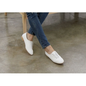 e3126915bbc44 http   what-is-fashion.com 3881-30463-. Previous. womens white synthetic  leather plain toe eyelet lace up flat oxford ...