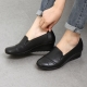 Womens round toe comfort low wedge heels