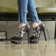 black & white rock chic corn spiked lace up high contrast tone platform ankle sneakers booties