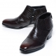Mens brown real Leather wrinkle side zip Ankle boots made in KOREA US5.5-10