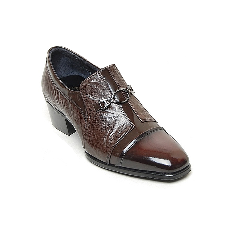 Men S Brown Leather Cuban Heel Loafers
