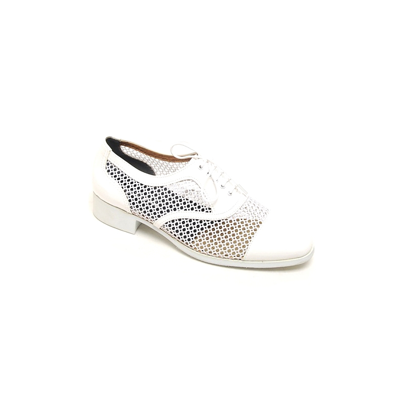 mens white mesh lace up synthetic leather dress shoes made